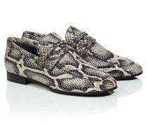 Loafer aus Leder mit Schlangeneffekt