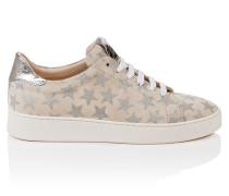 Sneakers aus Veloursleder mit Sternchen-Print