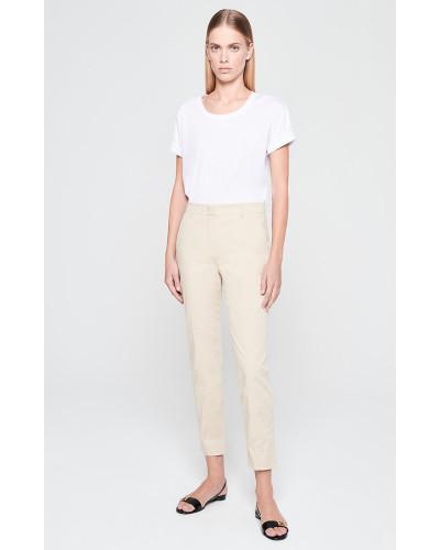 Knöchellange Hose aus Baumwoll-Twill
