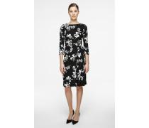 Kleid mit Print und Wickeloptik