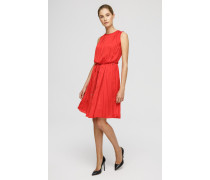 Ärmelloses Plissé-Kleid
