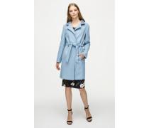 Mantel aus Schurwolle mit Taillengürtel