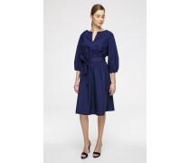 Midi-Kleid mit Bindegürtel