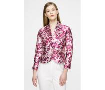Kurze Jacke aus floralem Fil Coupé