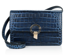 Clutch Bag aus Leder mit Kroko-Prägung