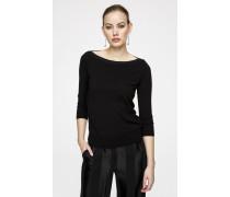 Feinstrick-Pullover mit Lurex-Akzenten