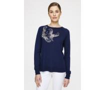 Woll-Pullover mit dekorativen Details
