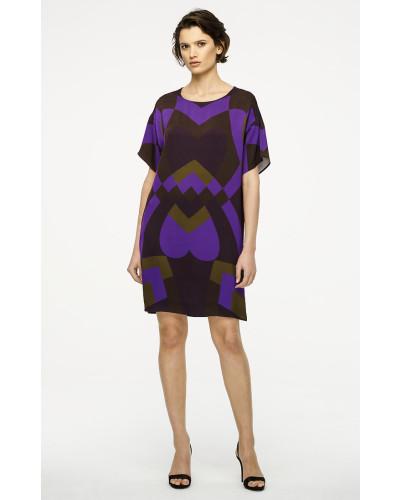 Print-Kleid aus Crêpe