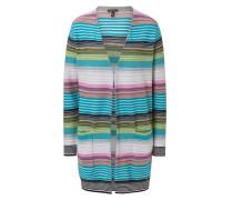 Wool Lurex Striped Cardigan