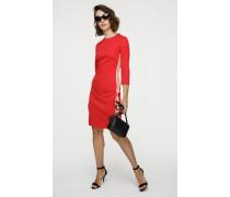 Jersey-Kleid mit Zipper am Rückteil