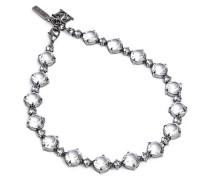 Halskette aus Messing mit Kristallsteinen
