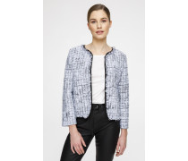 Tweed-Jacke in Stepp-Optik