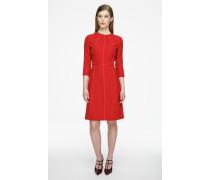 Kleid aus Schurwolle im Panel-Design