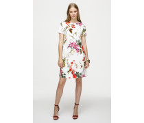 Jacquard-Kleid im floralen Design