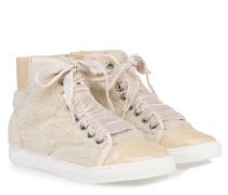 High-Top Sneaker Creme