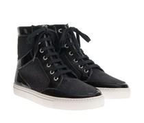 Vegane Hightop Sneaker Bloque Mit Zip Schwarz