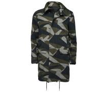 Mantel aus Baumwolltwill mit Camouflagemuster