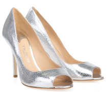 Peep Toe Pumps Silber