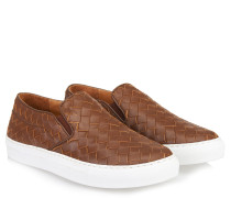 Geflochtene Slip-on Sneaker Braun