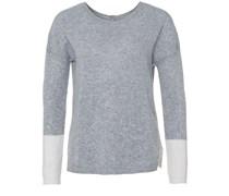 Back To Front Sweater Grau Ecru