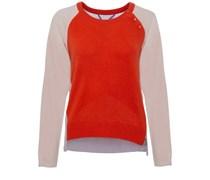 Cashmere Sweater Mit Zip Multicolor