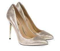 Pia Nude Pumps Metallic Nude Gold