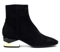 Velours Ankle Boots Metallic Negro