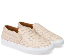 Geflochtene Slip-on Sneaker Beige