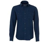 Leinenhemd Blau