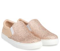 Slip-on Sneaker Mit Strass Nude