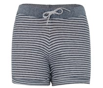 Strick Shorts Blau Weiß