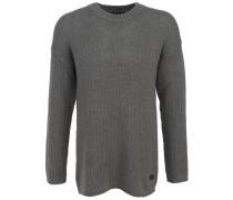 Wollsweater 'Boxy' Oversize Oliv Grau