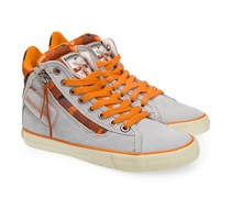 Sneaker Grau Orange