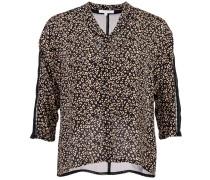 Bluse Leopardenmuster Schwarz Beige