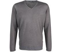 V-Neck-Sweater Schurwolle Braun