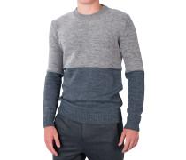 Pullover Rundhals Grau-Beige
