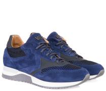 Ledersneaker 'UK' Blau