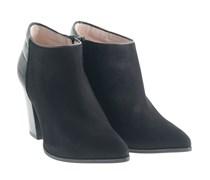 Perseo Ankle Boots Mit Blockabsatz Schwarz