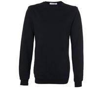 Sweatshirt Mit Zipdetails Schwarz