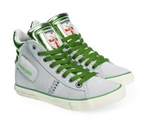 Sneaker Grau Grün