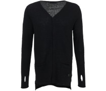 Scissor Cotton Cardigan Schwarz
