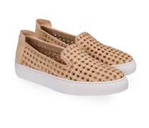 Burke Nappa Basket Weave Slipon-Sneaker Natural