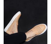 Burke Nappa Basket Weave Slipon-Sneaker Natural