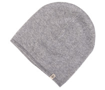 Beanie-Mütze Kaschmir Grau