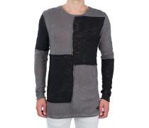 Oversize-Pullover 'Zoid' Schwarz-Grau