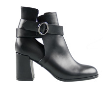 Effortless Cool Cut-Out Ankle Boot Schwarz