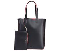 Handtasche Calf Ruga black/red