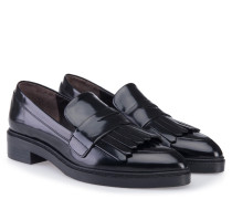 Loafer 'Madison Ave' Leder mit Fransen Schwarzgrau