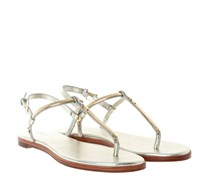 Tia Cracked Nappa Metallic Sandalen Light Gold