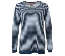 Stripe Long Sweater Blue White